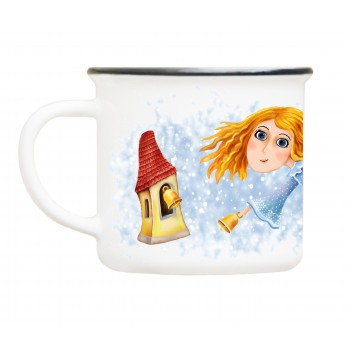 Mug angel with bell tower