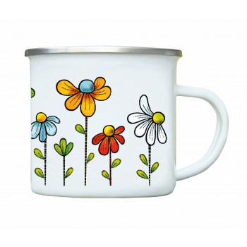 Mug of colorful flowers